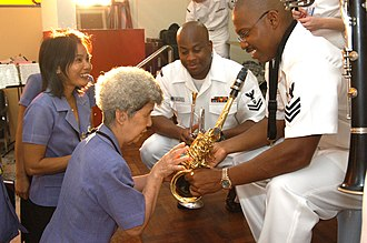 Full spectrum diplomacy - Members of the Seventh Fleet band engaging in cultural diplomacy at the Pattaya Redemptorist School for the Blind