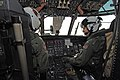 US Navy 060315-N-4374S-004 Pilots assigned to the Blackhawks of Helicopter Mine Counter Measure Squadron Fifteen (HM-15), monitor gauges on the console of an MH-53E Sea Dragon helicopter as they perform start-up checks.jpg