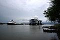 US Navy 060331-N-9643K-005 The Sea Based X-Band Radar (SBX 1) departs Pearl Harbor, en route to its homeport in Adak, Alaska in the Aleutian Islands.jpg