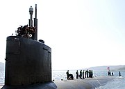 US Navy 070522-N-0780F-004 Los Angeles-class attack submarine USS San Juan (SSN 751) arrives for a routine port visit