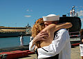 US Navy 071024-N-2218M-005 Electricians Mate 1st Class Joel Lohrmann is surprised by his wife, at USS Charlotte (SSN 766) homecoming to Naval Station Pearl Harbor.jpg