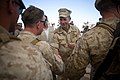 US Navy 080617-N-0696M-570 Adm. Mike Mullen, chairman of the Joint Chiefs of Staff, greets Marines participating in Exercise Mojave Viper, a 30-day immersion scenario designed to prepare them and Sailors for deployments.jpg