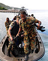 US Navy 090108-N-9995B-002 Sailors from Expeditionary Training Command conduct a Southern Partnership Station small boat training course for members of the Jamaica Defense Force.jpg