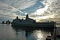 US Navy 090120-N-8951S-019 The San Antonio-class amphibious transport dock ship Pre-Commissioning Unit (PCU) Green Bay (LPD 20) moors at a pier in Long Beach Harbor.jpg