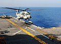 US Navy 091028-N-8132M-171 A CH-53E Super Stallion helicopter assigned to Marine Medium Tiltrotor Squadron (VMM) 263 (Reinforced) lands aboard the amphibious assault ship USS Bataan (LHD 5).jpg