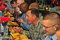US Navy 091126-N-4053P-042 Gen. David H. Petraeus, commander, U.S. Central Command, eats Thanksgiving dinner with a group of Sailors aboard the aircraft carrier USS Nimitz (CVN 68).jpg