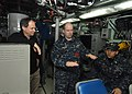 US Navy 101229-N-7705S-040 Lt. Cmdr. Robert Webster, engineering officer aboard the Los Angeles-class attack submarine USS Boise (SSN 764), explain.jpg