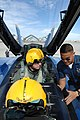 US Navy 110215-N-IR859-015 Vice Adm. Allen G. Myers, commander of U.S. Naval Air Forces, is strapped into an F-A-18 Hornet, assigned to the U.S. Na.jpg
