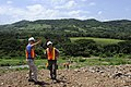 US Navy 110718-F-ET173-068 Max Gyllenskog and Cmdr. Mark Riddle onduct a site survey of a landfill in Ayacachapa, El Salvador.jpg