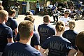 US Navy 110907-N-YM440-212 Rear Adm. Douglas J. McAneny, commandant of the National War College, speaks with future Sailors at the Henry Doorly Zoo.jpg