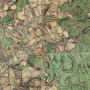 Uccle - Uccle map of 1777