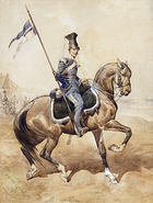 Uhlan of the Polish National Guard in Lwów in 1848