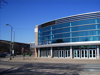 Chicago Rockers - The Chicago Rockers of the CBA played home games at the UIC Pavilion (pictured) on the campus of the University of Illinois at Chicago.