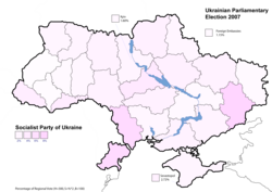 Socialist Party of Ukraine results (2,86%)