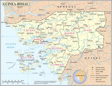 GuineaBissau Wikipedia - Guinea bissau map