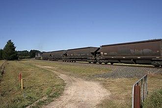 Unanderra–Moss Vale railway line - Unanderra–Moss Vale line at Sheepwash Road