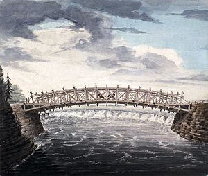 Chaudière Bridge - The first bridge with its main wooden arch (1828)