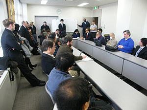 Berlitz Corporation - Union members and supporters hear the details of the Tokyo District Court ruling on February 27, 2012