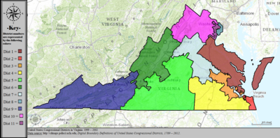 United States Congressional Districts in Virginia, 1999 – 2002.tif