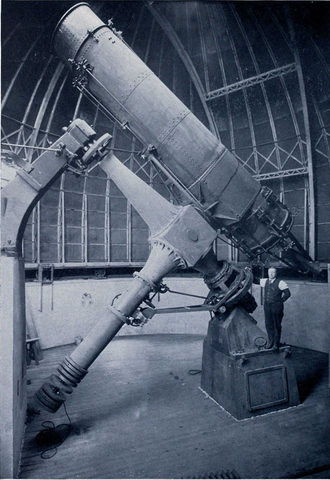 Detroit Observatory - University of Michigan telescope, c. 1912