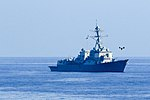 Unmanned aerial system (UAS) flies near the USS Jason Dunham.jpg