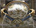 Urbino, bottega di francesco patanazzi, raffreddatore per vino con cacciata dei progenitori tra grottesche, 1608, 02.JPG