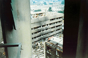 Terrorists bombed the US Embassy in Nairobi, K...