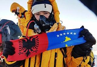 Uta Ibrahimi Albanian alpinist from Kosovo