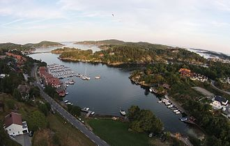 Mandal, Norway - View of the Tregde area