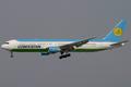 Uzbekistan Airways Boeing 767-300ER VP-BUE FRA 2004-4-17.png