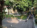 Vườn hoa bệnh viện Xanh Pôn nhìn từ nhà B2, Hà Nội 003.JPG