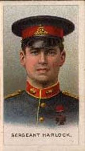 HMT Aragon - Cigarette card portrait of BSM Ernest Horlock VC, who was among the hundreds of troops killed when Aragon was sunk