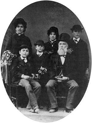 Valdemar Knudsen - Photographed in Vienna, 1885, Valdemar Knudsen and his children. Standing left to right: Ida, Maud, and Augustus. Sitting left to right: Eric, Arthur and Valdemar