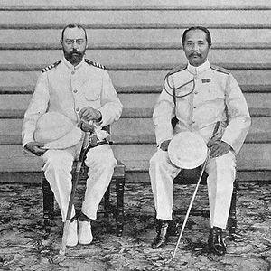 Prince Valdemar of Denmark - Prince Valdemar with King Chulalongkorn of Siam.
