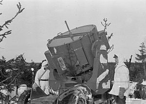 Espoo - Anti-aircraft searchlight in Haukilahti in 1940