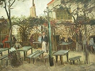 """Montmartre (Van Gogh series) - Image: Van Gogh Gartenlokal """"La Guinguette"""" auf dem Montmartre"""