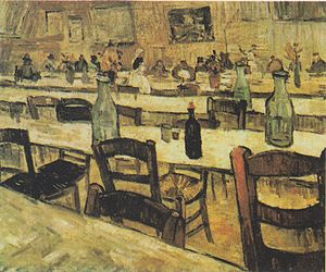 Interior of a Restaurant in Arles - Image: Van Gogh Interieur eines Restaurants in Arles