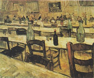 <i>Interior of a Restaurant in Arles</i> painting series by Vincent van Gogh