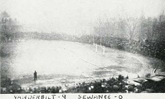 Sewanee–Vanderbilt football rivalry - A soaked Curry Field.