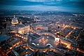 Vatican City and St. Peter Square evening twilight aerial view.jpg
