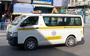 Law enforcement in Jordan - Accident investigation vehicle