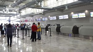 Querétaro Intercontinental Airport - Check-in counters at the airport.