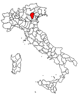 Location of Province of Vicenza