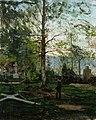 Victor Westerholm - Werner Holmberg's Graveside - A-1993-402 - Kansallisgalleria.jpg