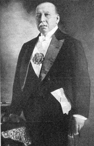 Victorino de la Plaza - President Victorino de la Plaza with the presidential sash.