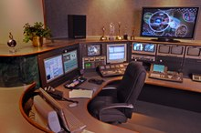 An example of a video editing studio