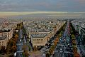 View from the Arc de Triomphe, 2009-2.jpg