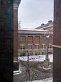 View of Lind Hall and statue from Mechanical Engineering building.jpg