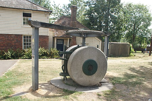 View of a milling machine outside the National Trust mills in Morden Hall Park (geograph 5864470)