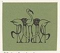 Vignet met vijf flamingo's, RP-P-OB-16.629.jpg
